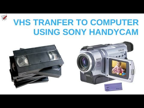 Convert VHS to DVD: How To Convert VHS Tapes To Digital With A Sony Handycam