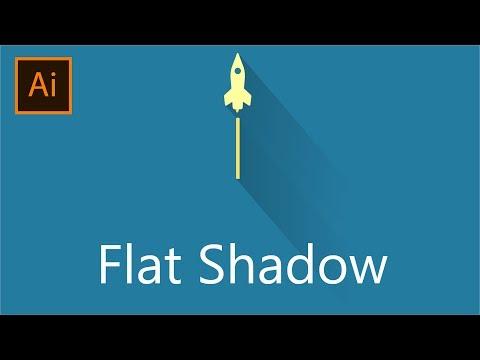 Flat Long Shadow Adobe Illustrator CC│The Easy Way
