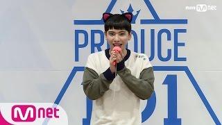 PRODUCE 101 season2 윙즈ㅣ김용진ㅣ 리얼 백치의 반전 래핑 @자기소개_1분 PR 161212 EP.0