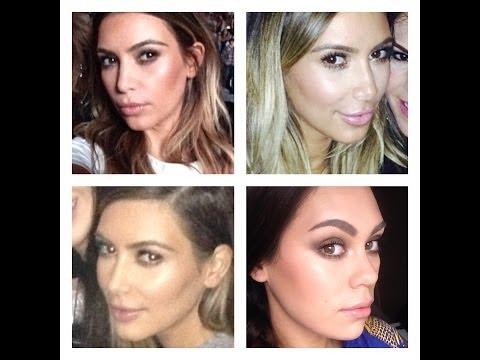 Kim Kardashian Glowy Makeup