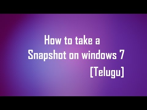 Ultimate Tips in Telugu - Part1 - How to take screenshot in windows 7 without software