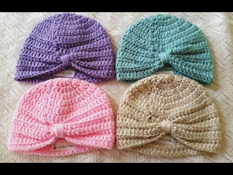 Baby Turban Crochet Tutorial