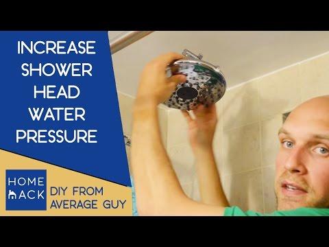 Increase water pressure in shower | Improve water pressure in bathtub