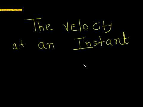 Velocity at an instant