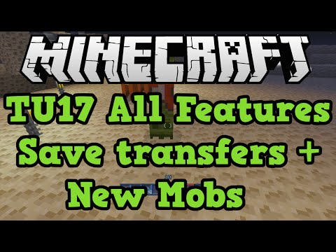 Minecraft Xbox 360 / PS3 How To Transfer Saves + New Mass Effect Mobs (TU17)