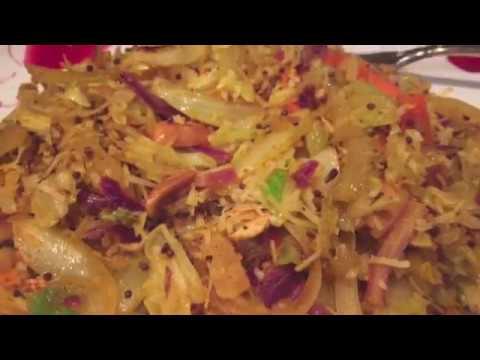 Curried Coleslaw Recipe 5 mins Side dish   Quick Healthy Sabji Idea