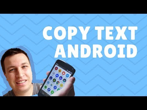 How to COPY TEXT on ANDROID 2018