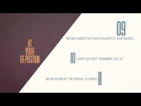 15 Tips for Giving a Great Deposition | Personal Injury Claims Explained