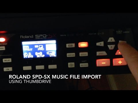 Roland SPD-SX Music File Import Using USB Thumbdrive