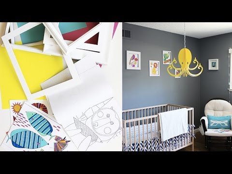 Add More Color to your Toddler Nursery with this Creative and Fun DIY Project! | Live Colorful