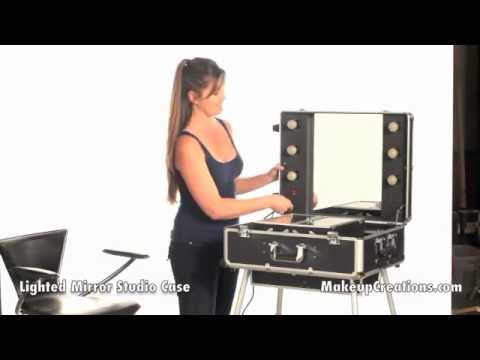 Makeup Cases Pro Lighted Mirror Studio Case Best For Hairstylist Makeup Artist