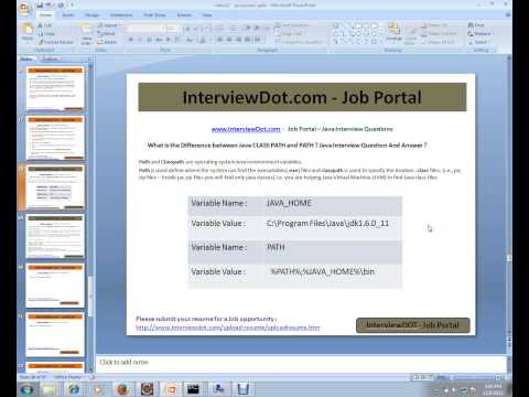 Java Interview Question And Answer CLASSPATH PATH difference between Java Interview Question