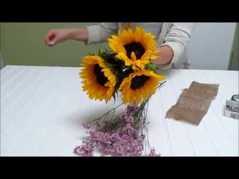 Sunflower Series: How to Make a Bridesmaid Bouquet