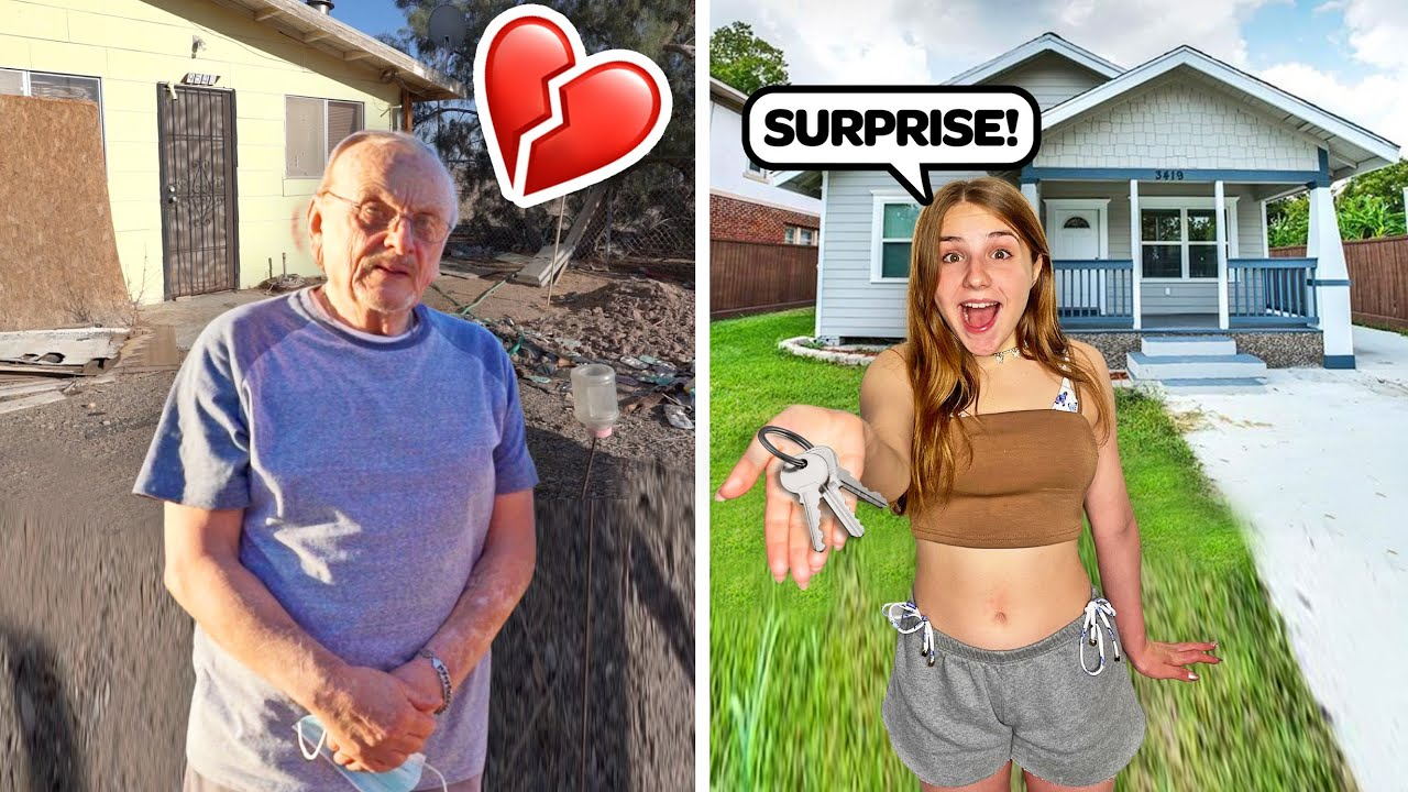 Buying A Homeless Man A New House! **EMOTIONAL SURPRISE**🏠❤️| Piper Rockelle