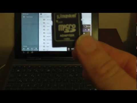Video 29: SD Card/Micro SD combo - Asus Transformer Prime Video (TF201, TF300, TF700)