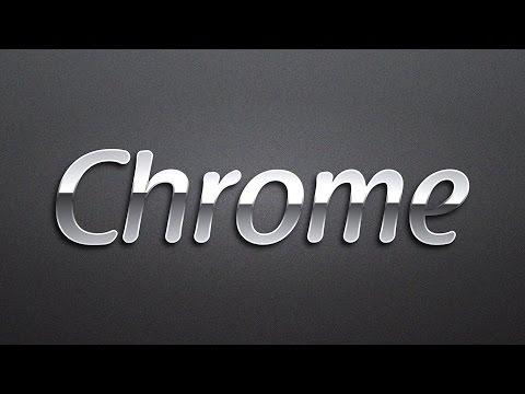 Chrome Text Effect #02 in Adobe Illustrator