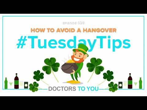 Tuesday Tips: How to Avoid a Hangover