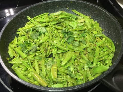Spicy Snap Peas Subji (Indian Style) Video Recipe