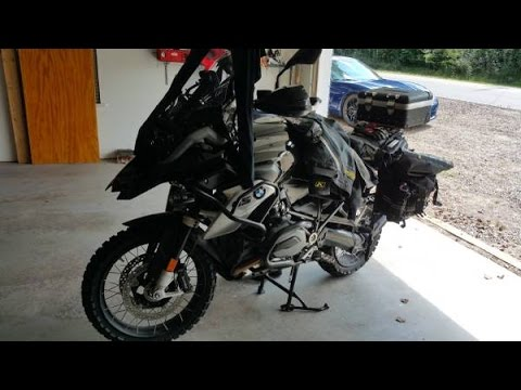 2016 BMW GS Front Wheel Removal and Installation   Tire Change