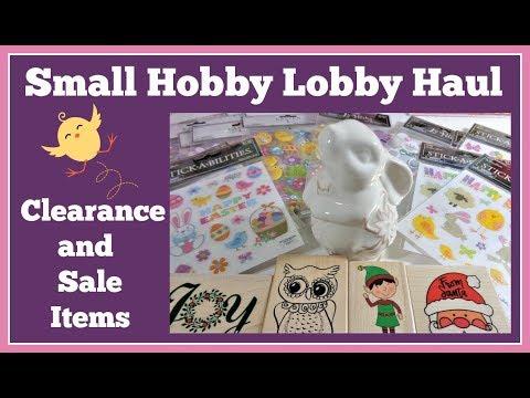 Small Hobby Lobby Haul 🤑Clearance and Sale items