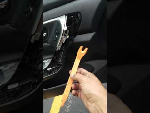 How to remove door panel and replace side mirror 2015 Nissan Altima S