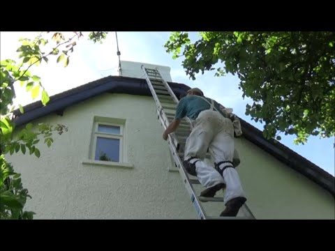 Painting render on a chimney stack. Part 2