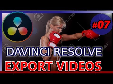 EXPORT, RENDER, DELIVER ON DAVINCI RESOLVE (Tutorial 07: youtube , instagram horizontal portrait 15