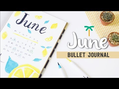 PLAN WITH ME - June 2018 Bullet Journal Setup for Summer | Stationery Island