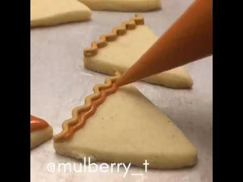 Decorated Cookies: Mini Pumpkin Pie Slice Cookie