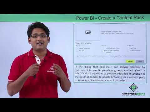Power BI - Create a content pack in power BI