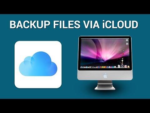 How to backup Mac's desktop and documents via iCloud