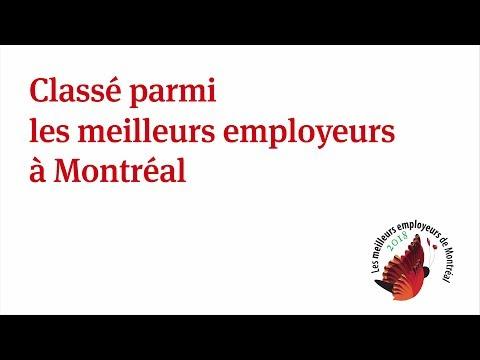 Notre bureau de Montréal est reconnu comme l'un des meilleurs employeurs de la métropole