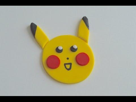 Pikachu Pokeman Cupcake Topper Tutorial