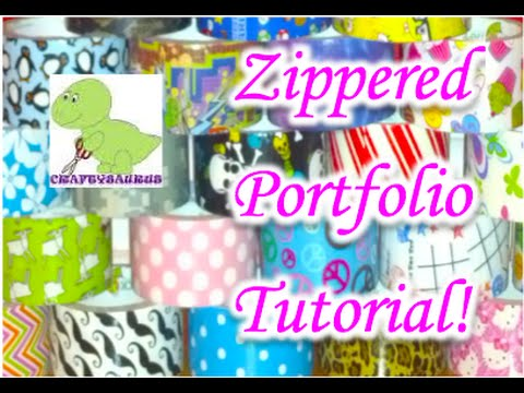 How to Make a Duct Tape Zippered Portfolio!
