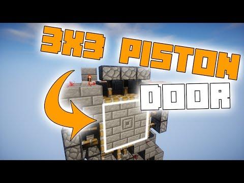 3x3 Spiral Piston Door in Minecraft! - Redstone Tutorial!