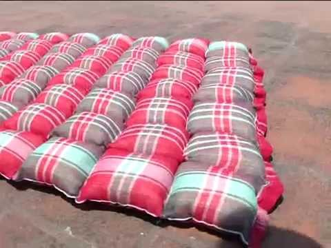 Folded Type Silk Cotton Mattress / Rolling Beds