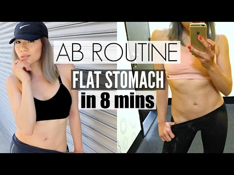 HOW TO GET A FLAT STOMACH FAST! | AB Workout At Home - Fitness Routine: Part 2 Belly Fat Burning