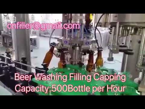 Beer Glass Bottle Washing Filling Capping Machine