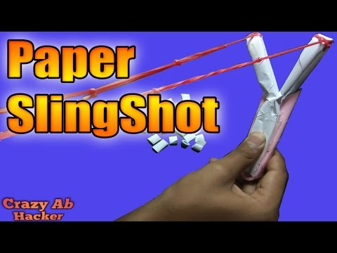 How to make a Paper Gun Slingshot very simple and strong - Toy Weapon (CAH)