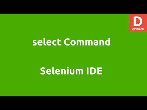 Selenium IDE Select Command