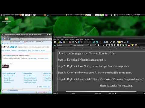 How To Run Nestopia Through Wine Ubuntu 10.04