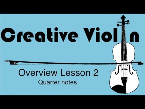 How to Play Quarter Notes on Violin - Beginner Violin Lesson 2