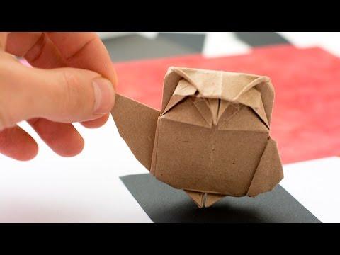 Origami Owl. Paper Owl tutorial