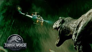 T-Rex Helicopter Sequence - Mosasaurus Surprise? | Jurassic World 2 Theory