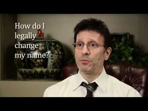 How Do I Legally Change My Name?