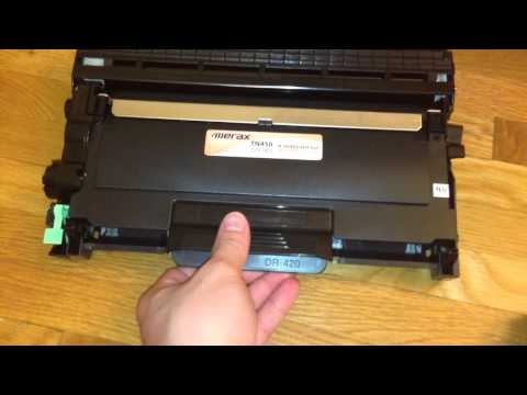 How to Change Brother Laser Printer Toner Cartridge - Stuck Toner Cartridge