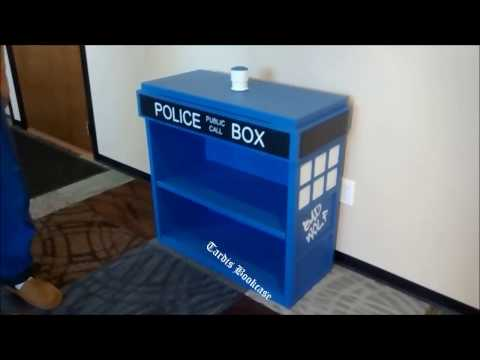 Tardis bookcase with drawer
