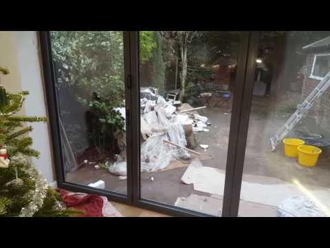 how to open folding doors fitted into an extension.