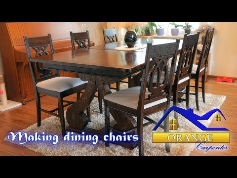 Making dining chairs from oak boards