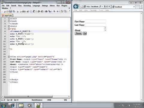 PHP Lesson 28   Working with the ISSET Function